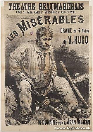Les Miserables   Poster advertising a stage production of ...