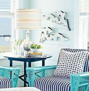 dekorasi interior rumah minimalis dengan warna biru