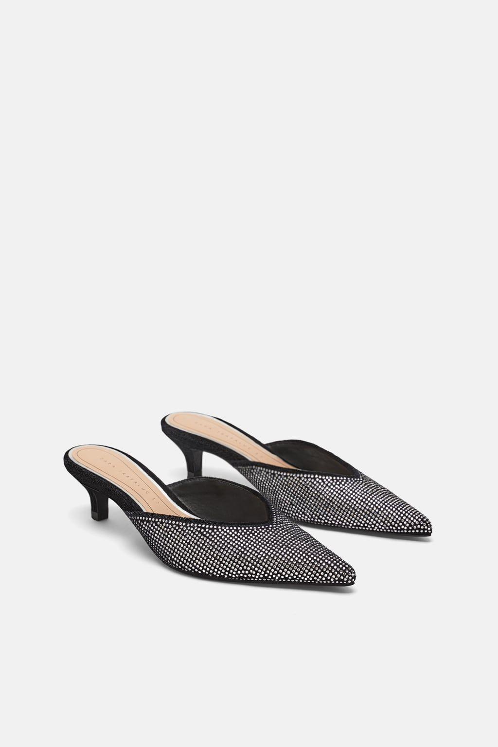 Heeled mules, Heels, Sparkly heels
