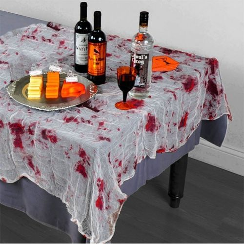 ekelhafte gruselige mull halloween horror tischdecke blut mulloptik deko deko pinterest. Black Bedroom Furniture Sets. Home Design Ideas