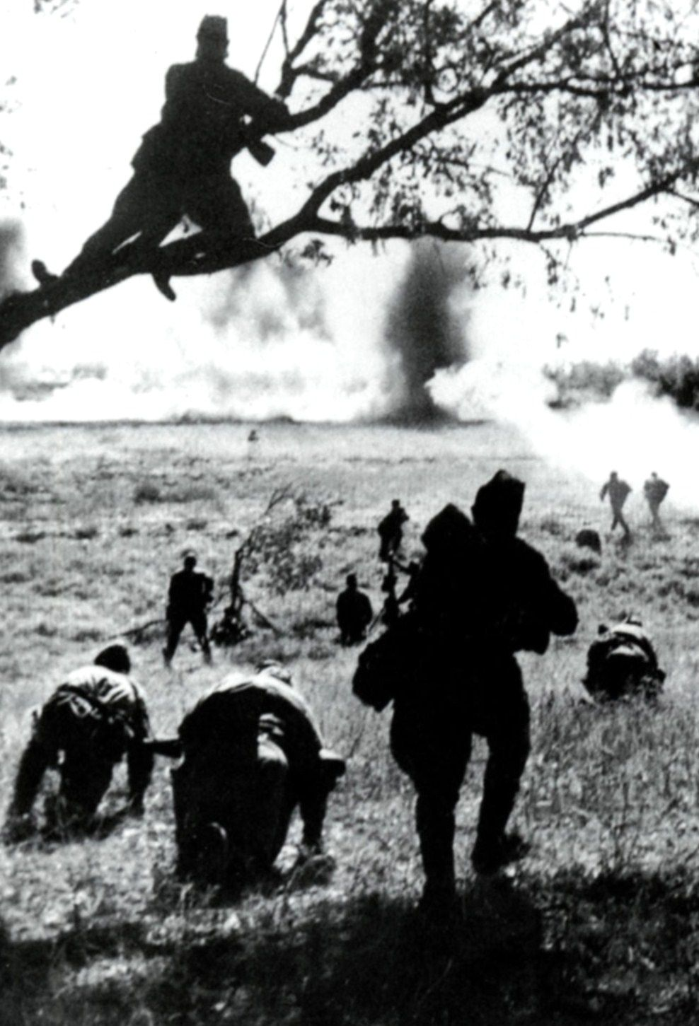 World War II, the Great Patriotic War. Soviet soldiers attacking, July – August 1943. The Battle of Kursk, Russia.