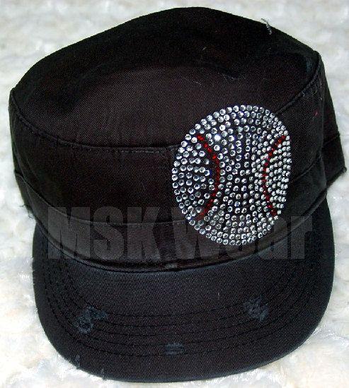 246b0a2795d66 Black Fidel With Baseball Rhinestone Hat for Girls and Women.  21.00 ...