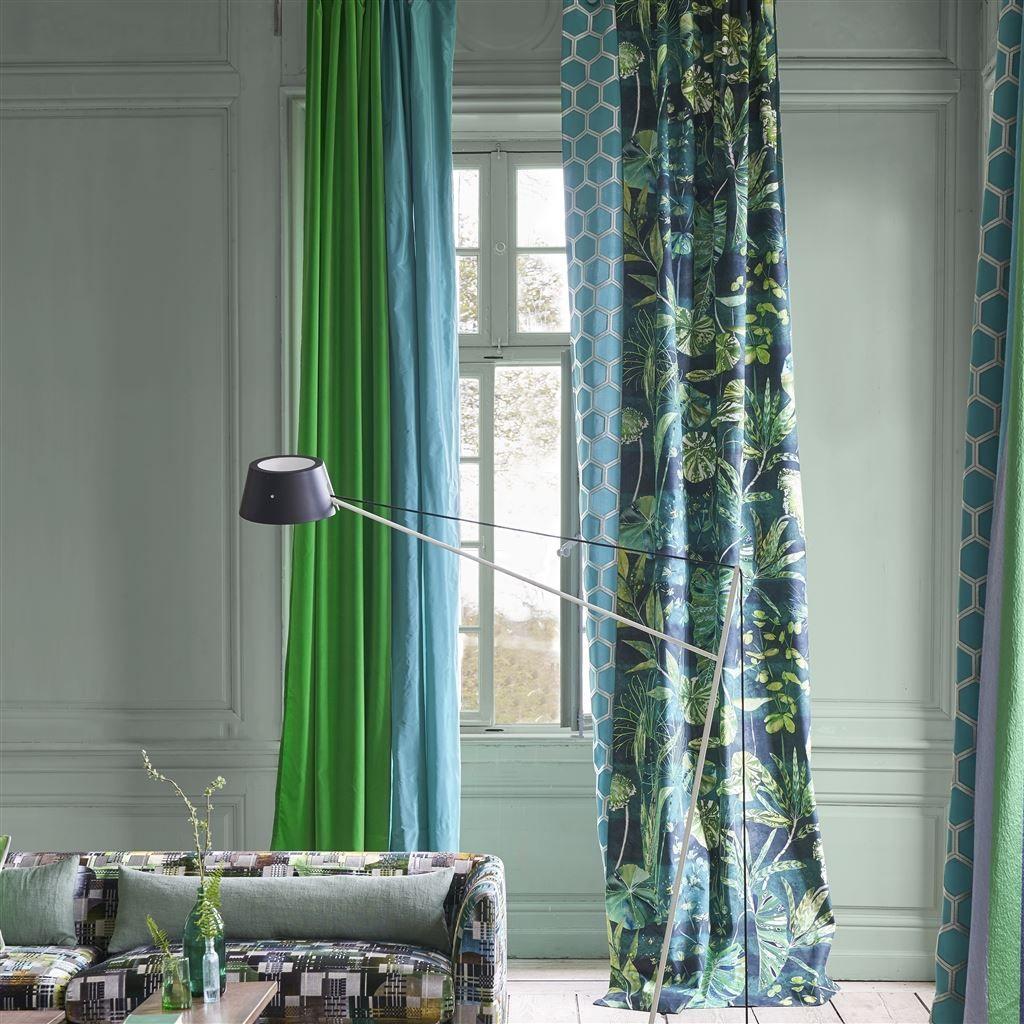 Arjuna Leaf Viridian Fabric Designers Guild