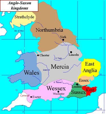Anglo Saxon Map Of England.Anglo Saxon Britain Google Search Transition British History