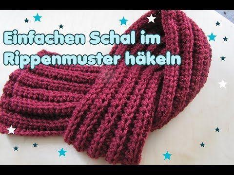 Einfachen SCHAL häkeln - Patentmuster - für Anfänger - YouTube ...