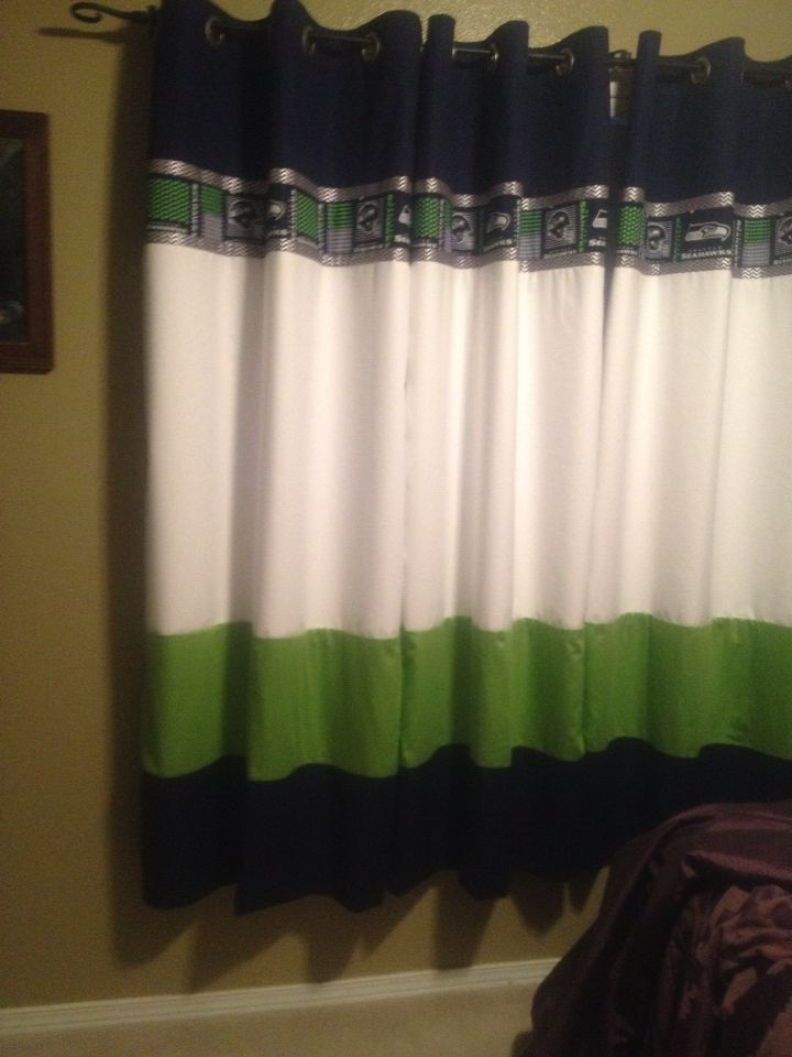 Seahawk curtains done!   Curtains, Bedroom furniture sets ...