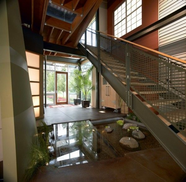 Entryway. interior, extraordinary homes with modern indoor ponds ...