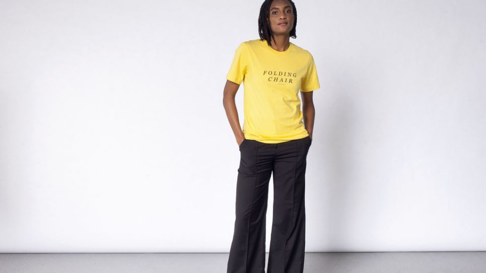 Modern Culture Graphic Pocket Tee Yellow