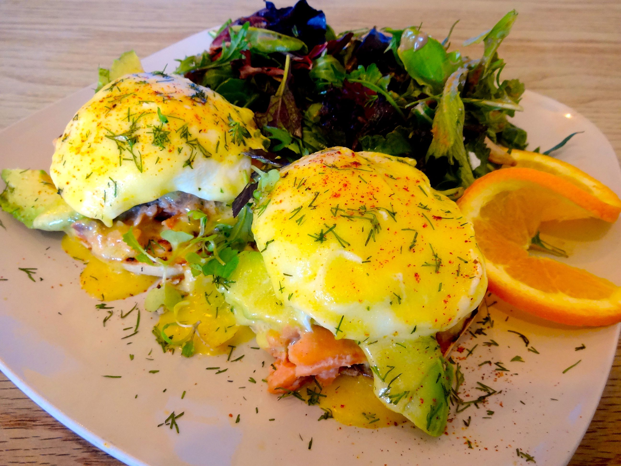 Wordless Wednesday: Smoked Wild Steelhead Trout Eggs Benedict by Chef Luke Patterson of Luke's Joint