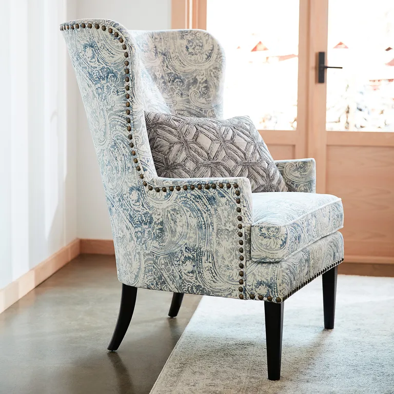 Asher Blue Paisley Chair Pier 1 Accent Chairs For Living Room Dinning Room Chairs Paisley Chair Cheap accent chairs with arms