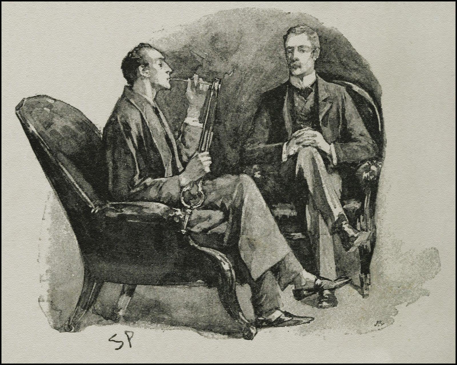 Sherlock Holmes Robe Pipe Doctor Watson Sidney Paget Illustration Menswear  Upper Class