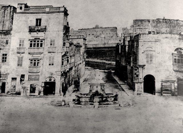 St Anne Street Floriana Malta Late 1850s Photography Malta
