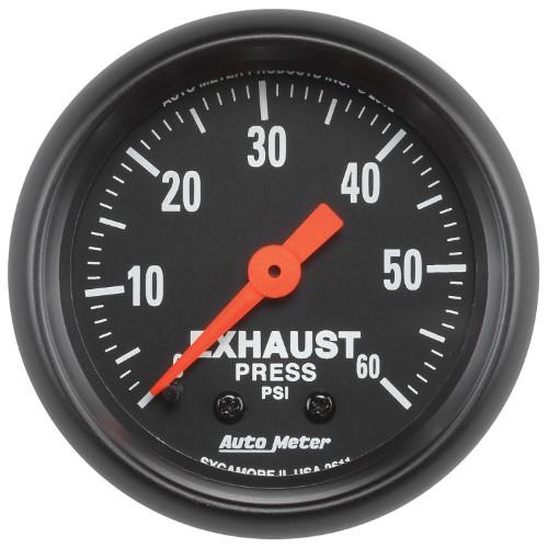 Autometer 2611 Z Series Exhaust Pressure Gauge Gauges Pressure Gauge Air Pressure Gauge