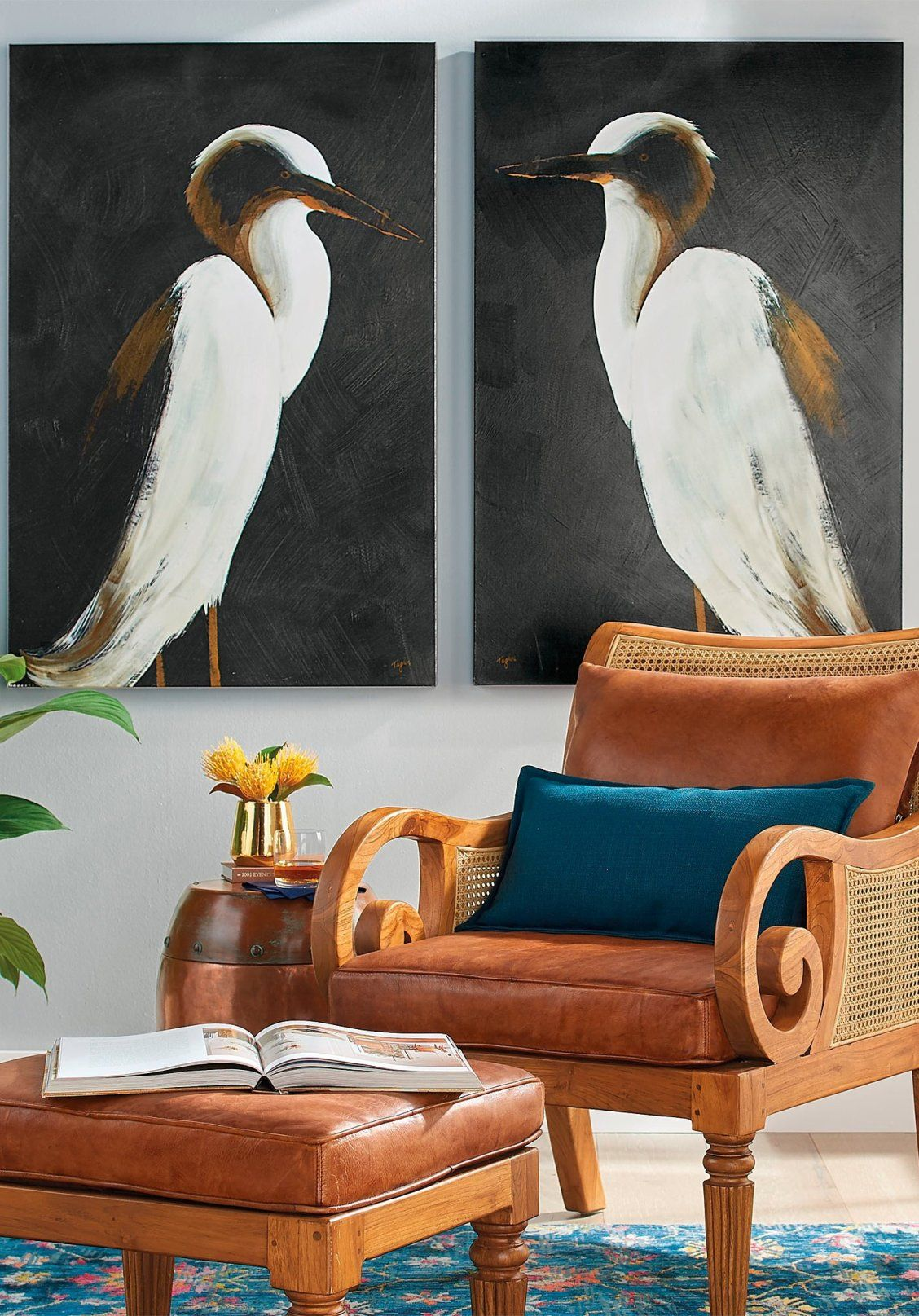 Big Art Is A Huge Trend And Our White Heron Artwork Captures One Of The Larger More Majestic Birds Of North America Deer Wall Art Wall Art Art Gallery Wall