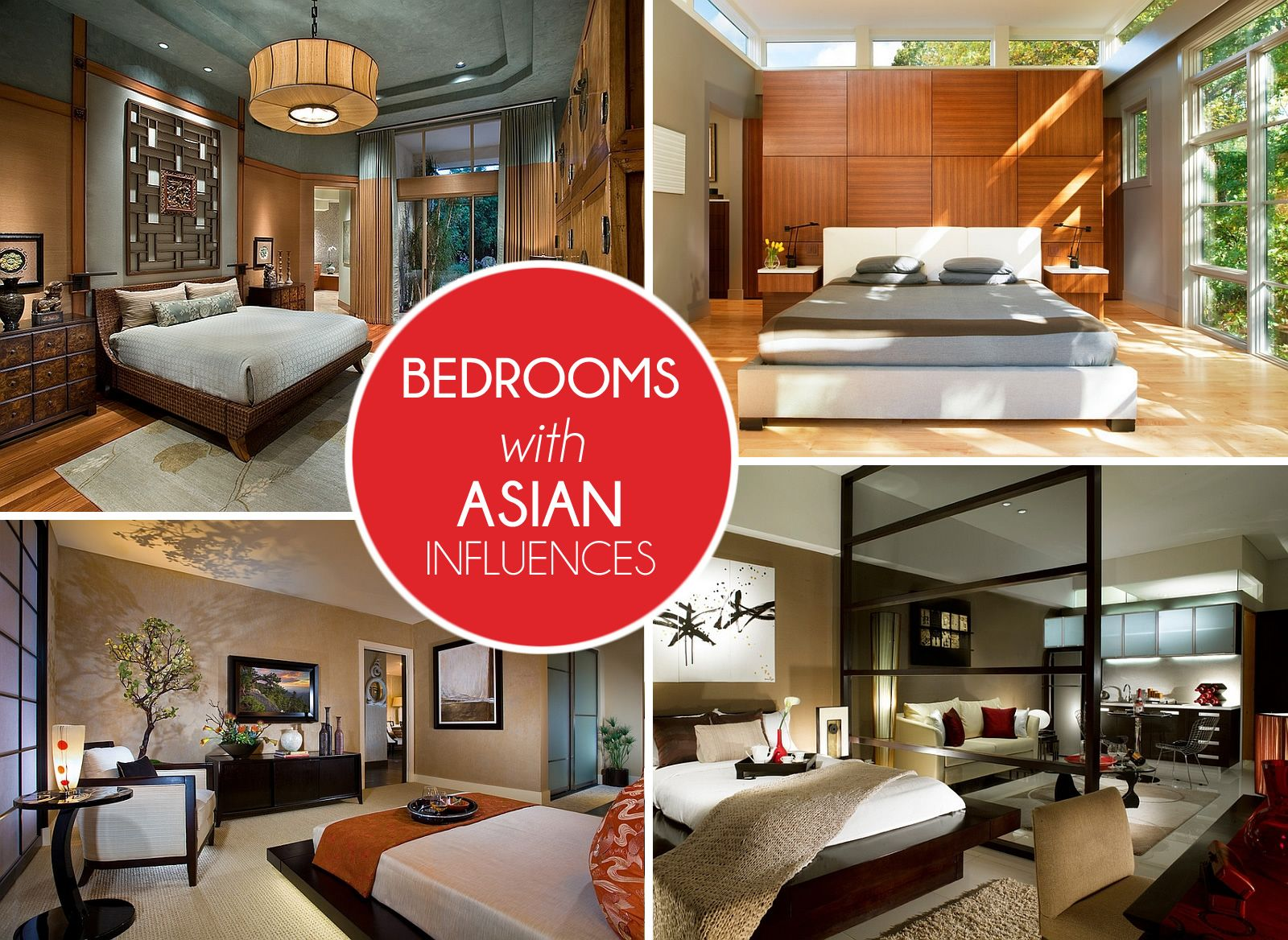 Asian Inspired Bedrooms Design Ideas, Pictures Asian