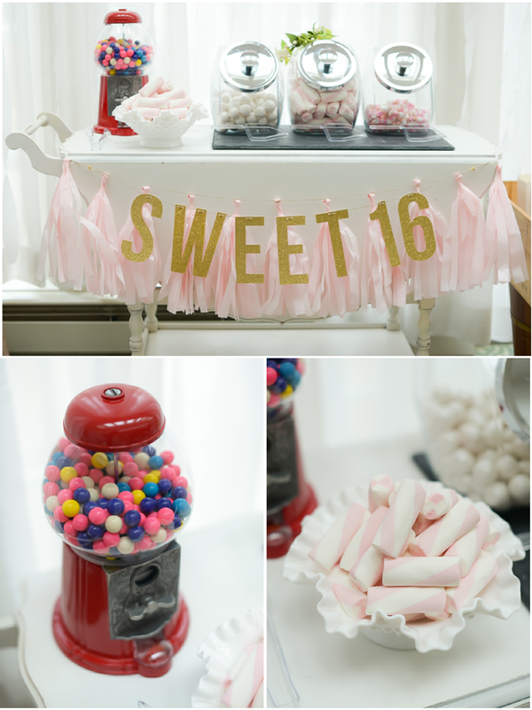 Candy Bar For A Very Sweet 16 Birthday Party By Birds