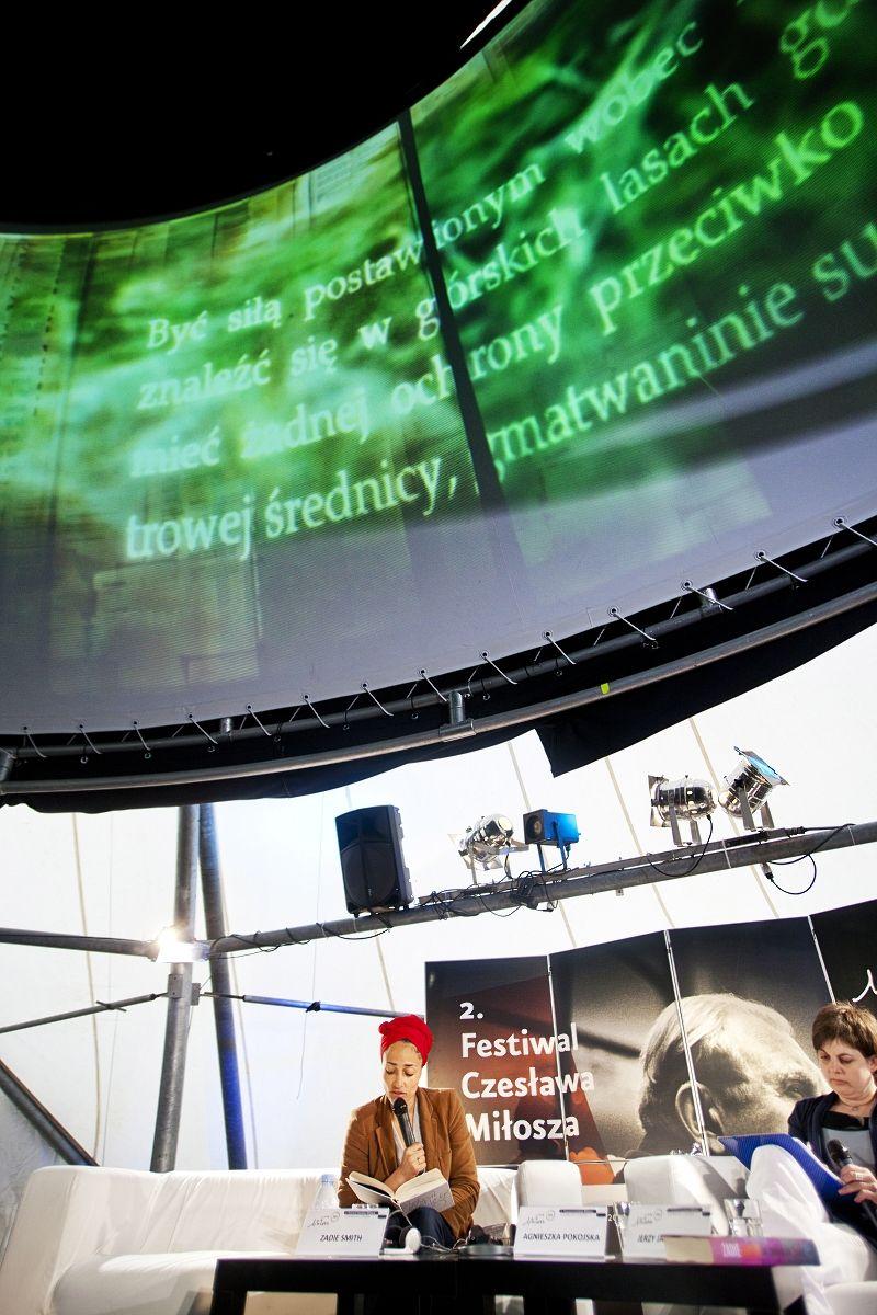 Miłosz Festival 2011 - Meet the author: Zadie Smith Hosts: Agnieszka Pokojska and Jerzy Jarniewicz - pic.Tomasz Wiech #miloszfestival