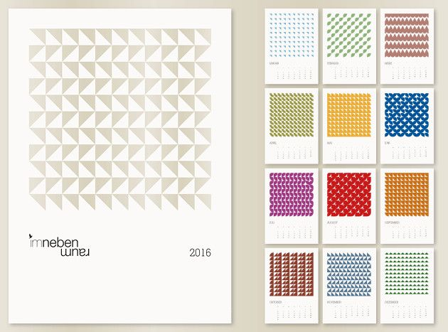 JAHRESKALENDER 2017 Muster DIN A4 bunt Jahreskalender 2016
