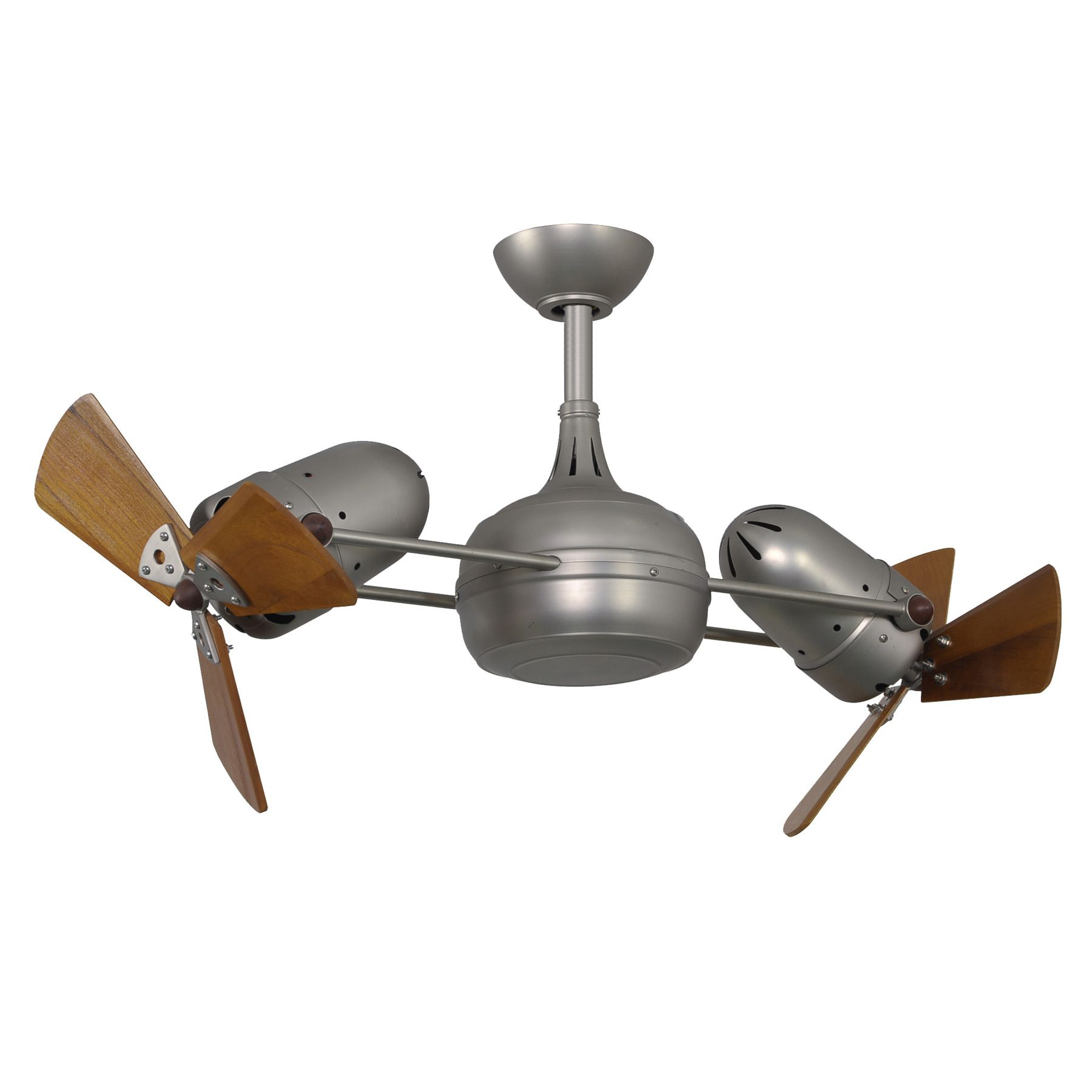 The double headed rotational ceiling fan Dagny with cylindrical