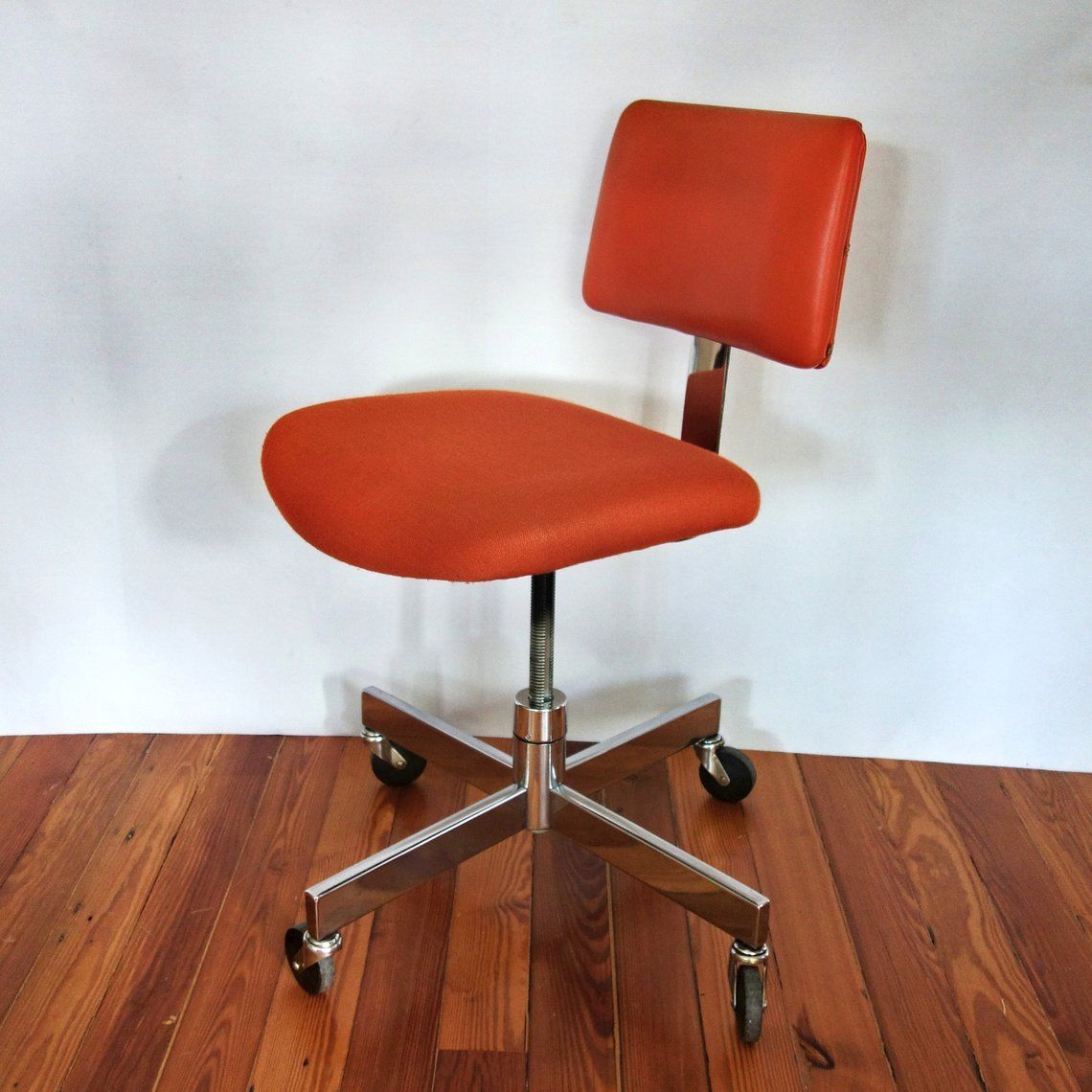 Steelcase Office Chair Mid Century Orange Desk Chair Vintage Vintage Desk Chair Orange Office Chairs Retro Office Chair