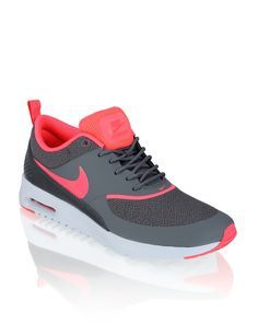 Billig Nike Air Max Thea Trainer schuhe Orange Rot Grau
