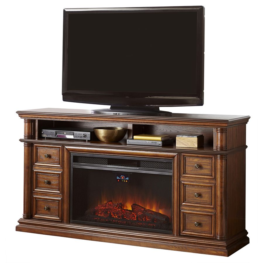 Style Selections 66 In W 5 120 Btu Sienna Wood And Metal