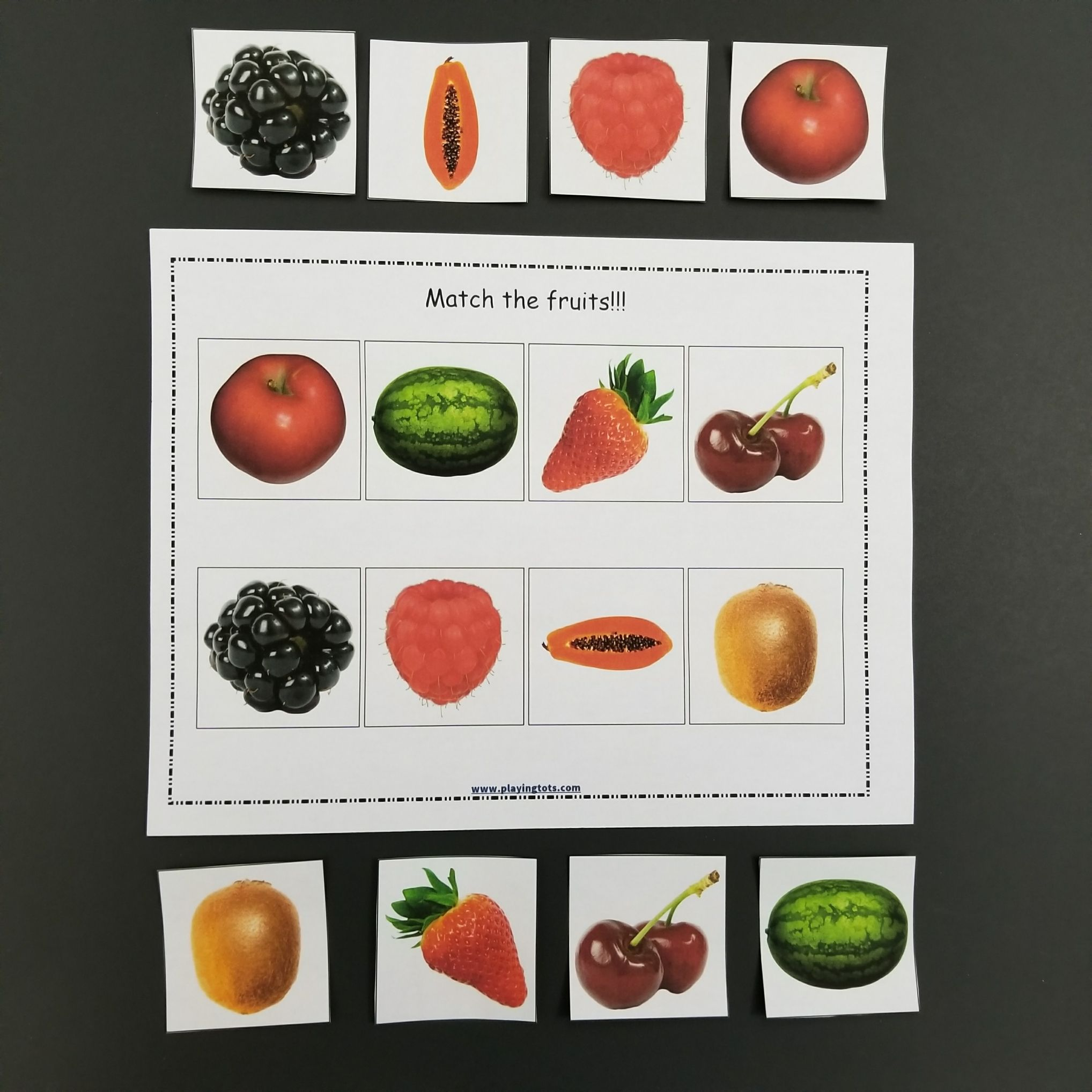 Match The Fruits Activity