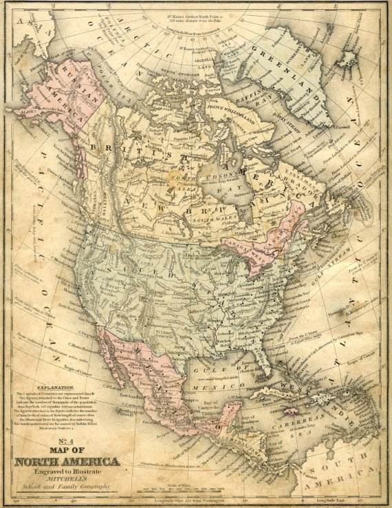 North America, Ancient maps, Atlas, Ancient map, Map of the world ...