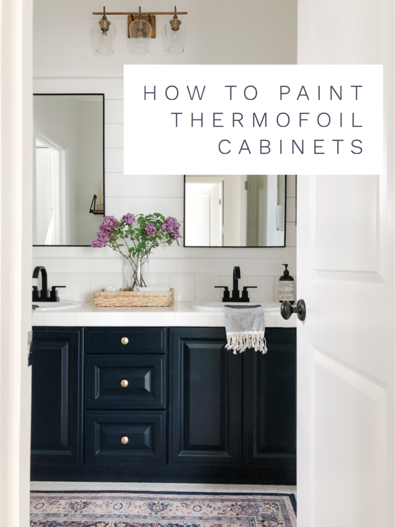 Sharing A Complete Diy Tutorial On How To Paint Thermofoil Cabinets A Step By Step In 2020 Thermofoil Cabinets Painting Bathroom Cabinets Thermofoil Kitchen Cabinets
