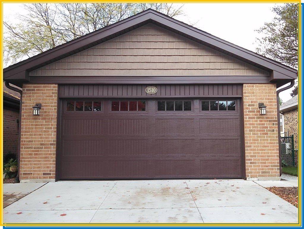 Exterior Cedar Shakes Above Garage Door Brown Wooden Coplay Garage Door Red Brick Stone Exterior Wall Chocolat Garage Doors Garage Door Design Brick And Stone