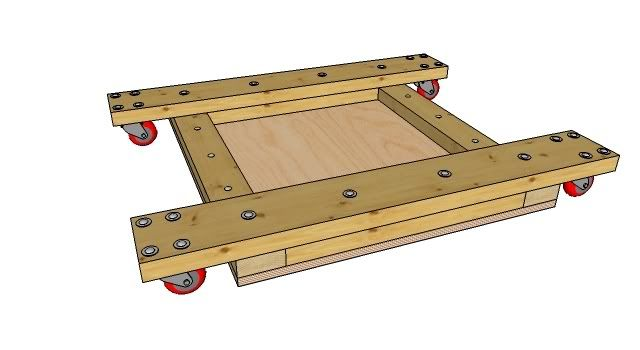 Don K S Mobile Table Saw Stand Sketchup Model By Brad Nailor Lumberjocks Com Woodworking Community