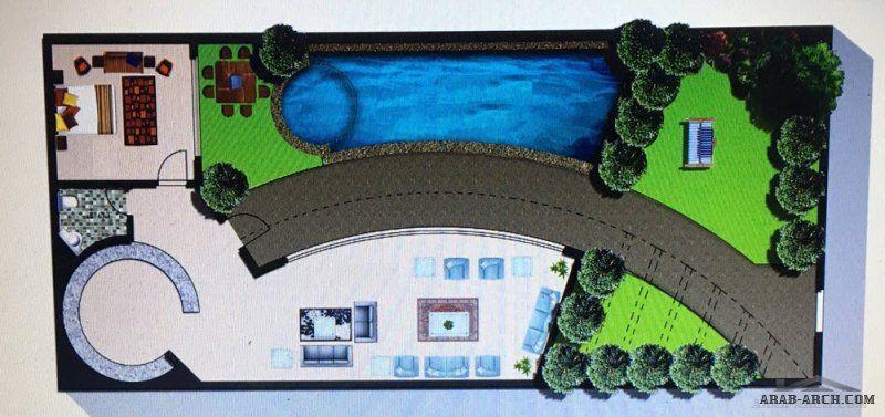 مخطط استراحة عصرية و عملية Villa Arch