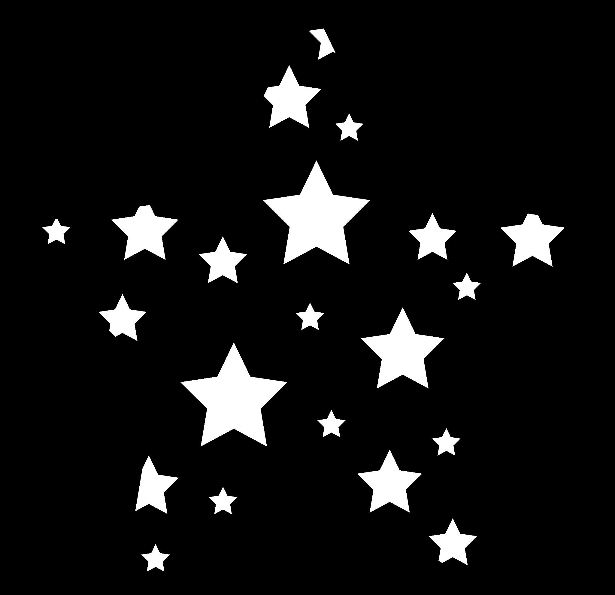 Stars Clipart Black And White Images