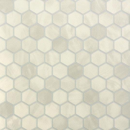 Chute De Sol Vinyle - Imitation Tomette Hexagone Grise | Verada
