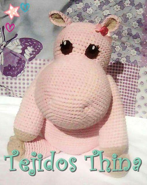 hipopotamo amigurumi   mis patrones amigurumi   Pinterest ...