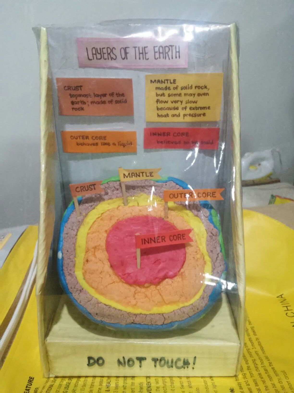 """""""Layers of the Earth"""" clay model #homemade #clay #school #earth"""