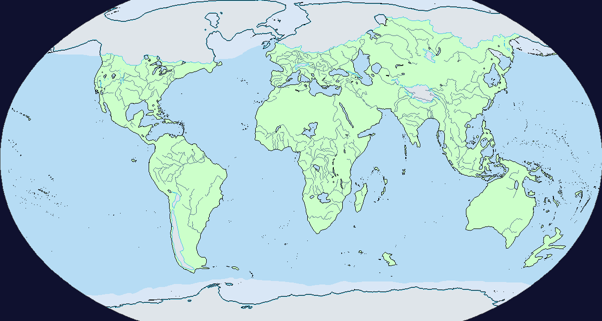 Pacific Centred Map Ice Age Age