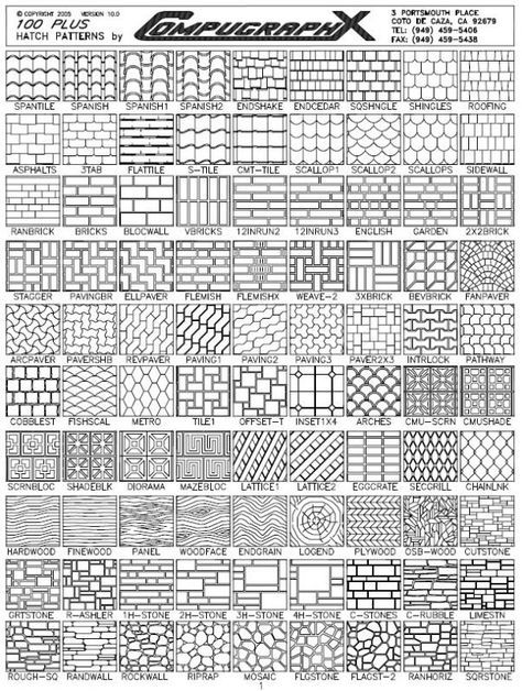 AutoCAD Hatch Patterns - 100 Plus Hatch Patterns | tmt in