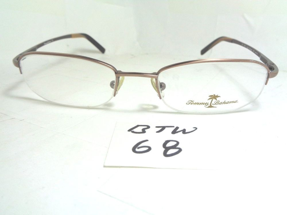 New Old Stock TOMMY BAHAMA Eyeglass Frame TB57 10/5 Light Bronze ...