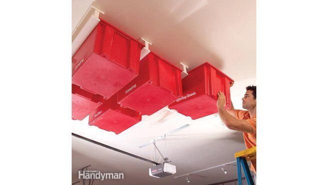 DIY rangement plafond rails THE FAMILY HANDYMAN
