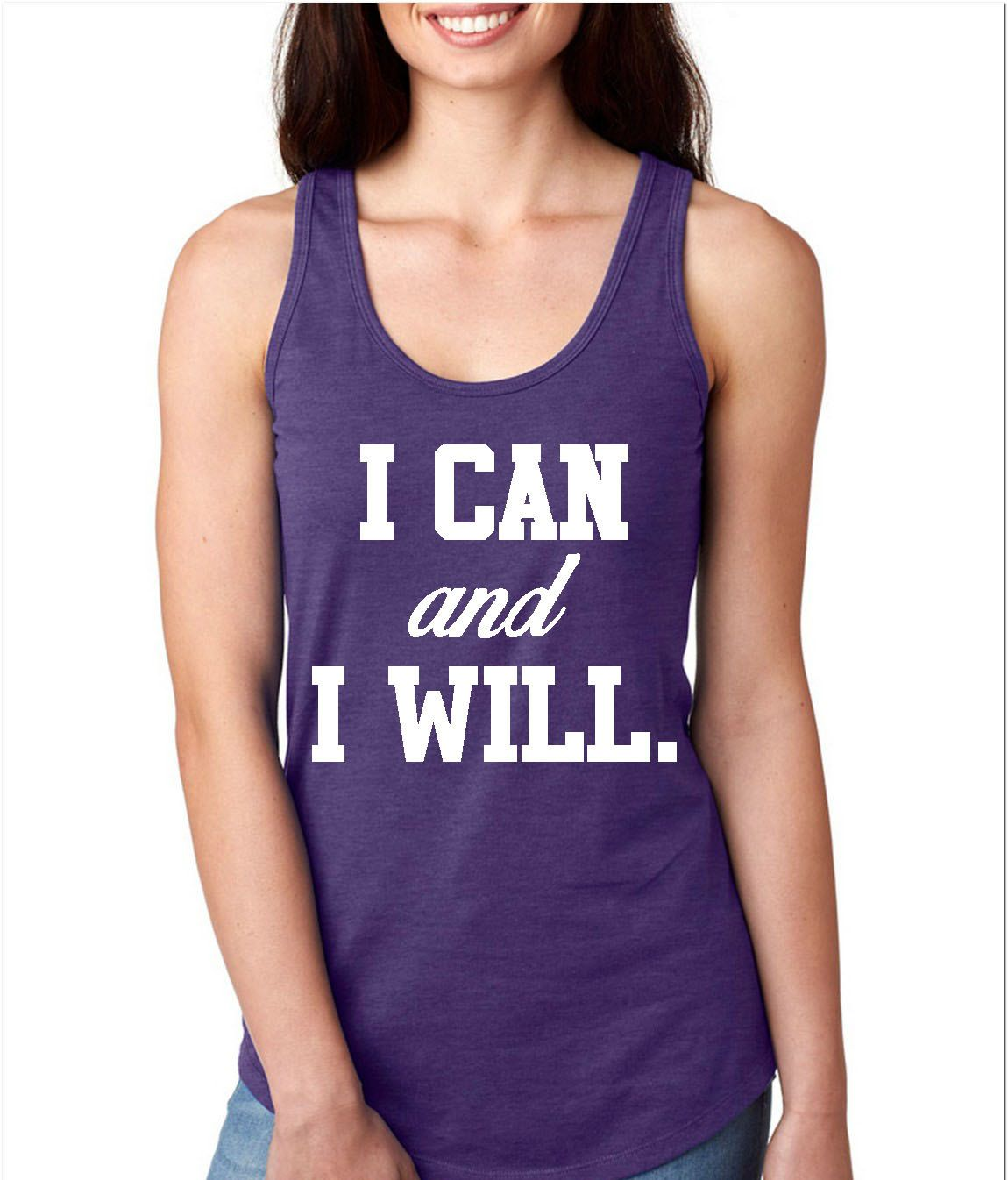 I Can And I Will Racerback Gym Tank Workout Tank Gym Tank by WildWindApparel on Etsy