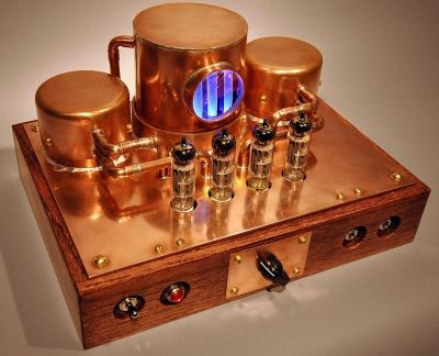 Vintage Style - Copper Steampunk K-12G Tube Amp Kit - DIY Audio - p & l form