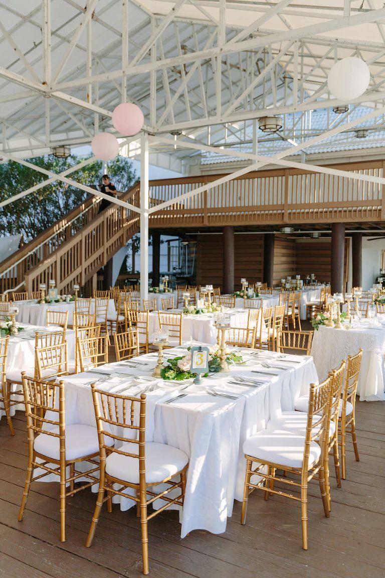 Blush pink ivory destination clearwater wedding