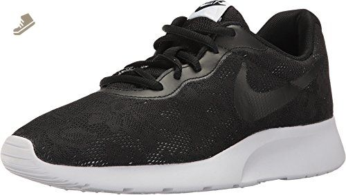 NIKE WOMENS TANJUN ENG SHOES BLACK BLACK WHITE RACER PINK SIZE 6 - Nike sneakers for women (*Amazon Partner-Link)