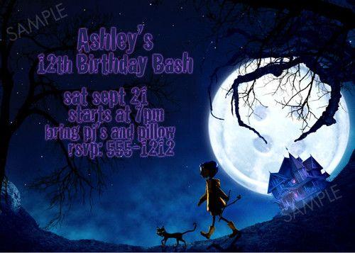 Fondos De Pantalla De Caroline: Coraline Invitation For Birthday Party