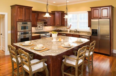 l shaped kitchen with double oven - Google Search Double Oven