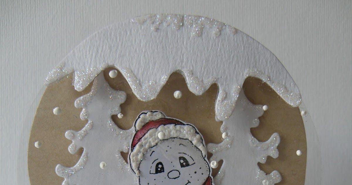 Vandaag een prachtige workshop gemaakt door Marja.   Ik vind 'm geweldig !!!   Kijk snel verder hoe je deze sneeuwbolkaart kan maken.   Gr...