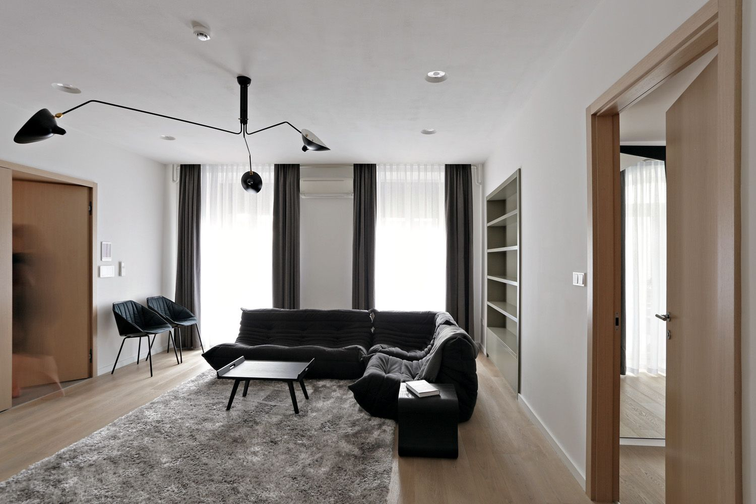 Insidesign With Togo Sofa Lupo Table And Rocher Chairs By Ligne