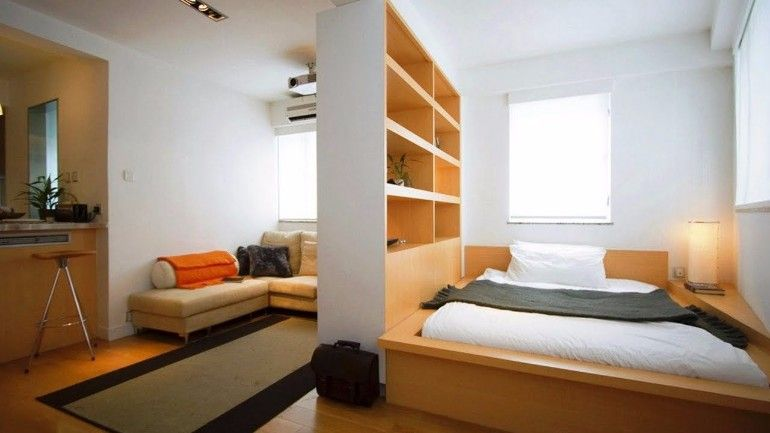 Modern and organized tiny bedroom studio | www.masterbedroomideas.eu #tinybedroom #studiobedroom #smallbedroomdecor #smallbedroom #bedroomideas