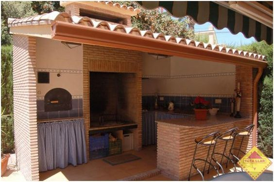Tipos de barras de bar para terrazas buscar con google ideas para el hogar pinterest - Barbacoas rusticas ladrillo ...